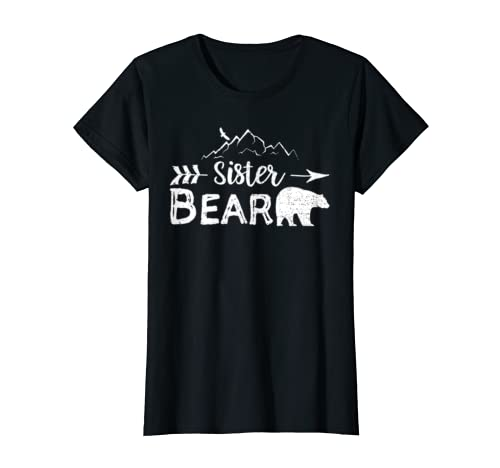 Sister Bear Shirt Matching Family Siblings Camping Gift