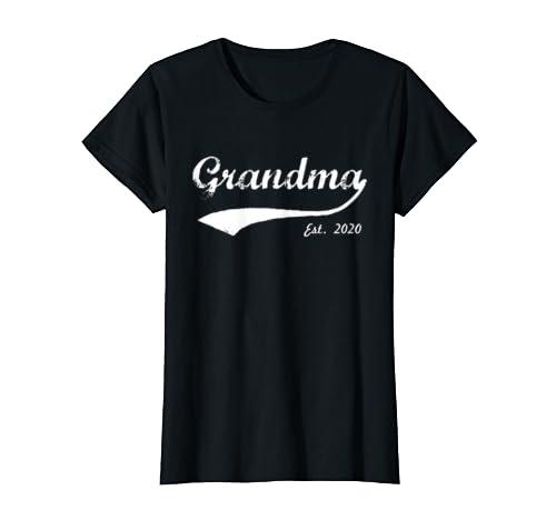 Womens New Grandma 2020   Grandma Est. 2020   Grandma To Be 2020 T Shirt