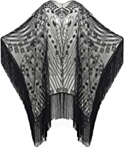 Best black fringe shawl Reviews