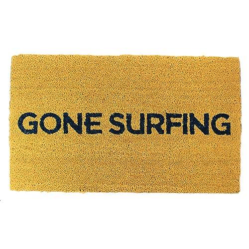 b1116411bf9eb Gone Surfing Coir Doormat 18 x 30 Inch Outdoor Indoor Extra Thick Door Mat  Vinyl