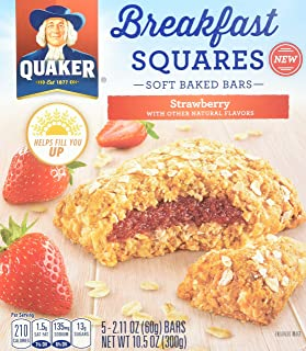 Quaker Breakfast Squares Strawberry 10.5oz