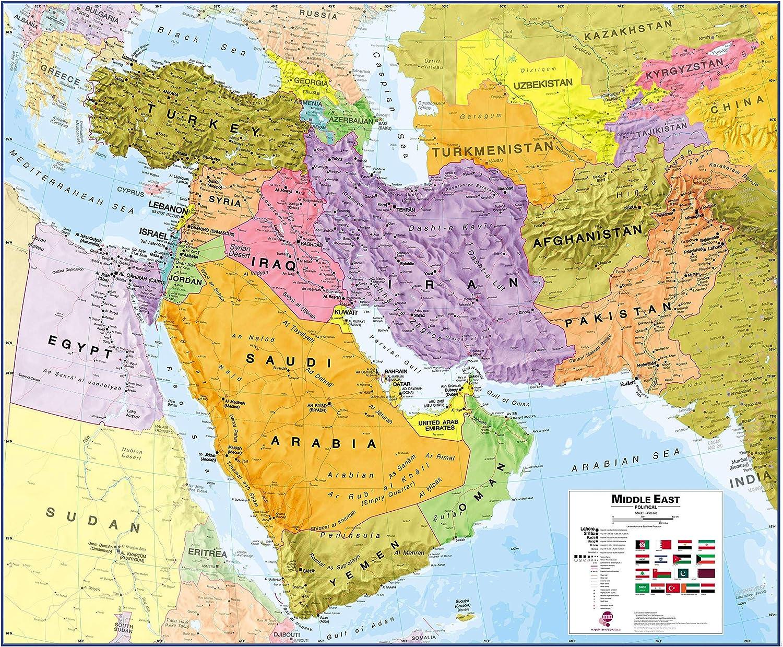 Maps International Las Vegas Mall Medium shipfree Political Middle Map - Wall Paper East