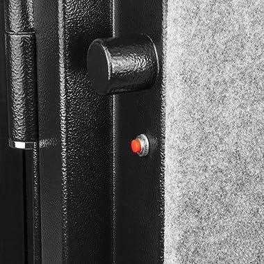 BARSKA AX12674 Fireproof Digital Keypad Vault Safe 4.35 Cu Ft, AX12674 Standard,Black