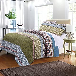 Greenland Home Shangri-La Quilt Set, Full/Queen