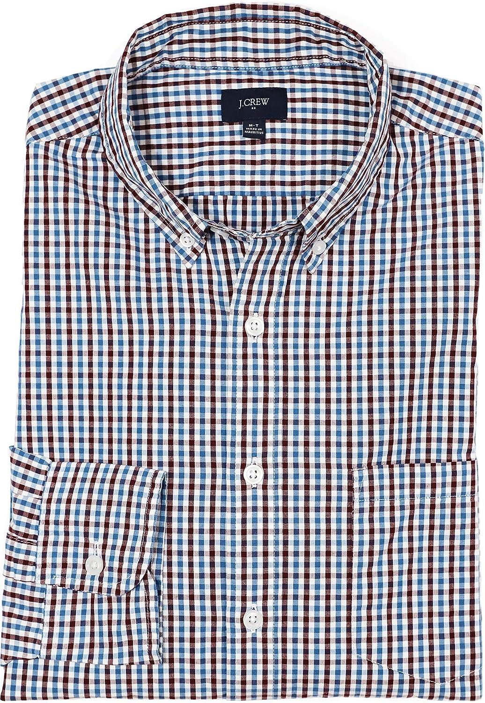 J.Crew Factory Men's Tall Regular Fit Tattersall Micro-Gingham Shirt