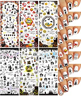Halloween Nail Art Water Slide Tattoo Stickers Decals ♥ Great Variety - Pack of 6