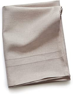 Solino Home 100% Pure Linen Bath Towel – 30 x 54 Inch, Light Natural – Natural Fabric Handcrafted from European Flax