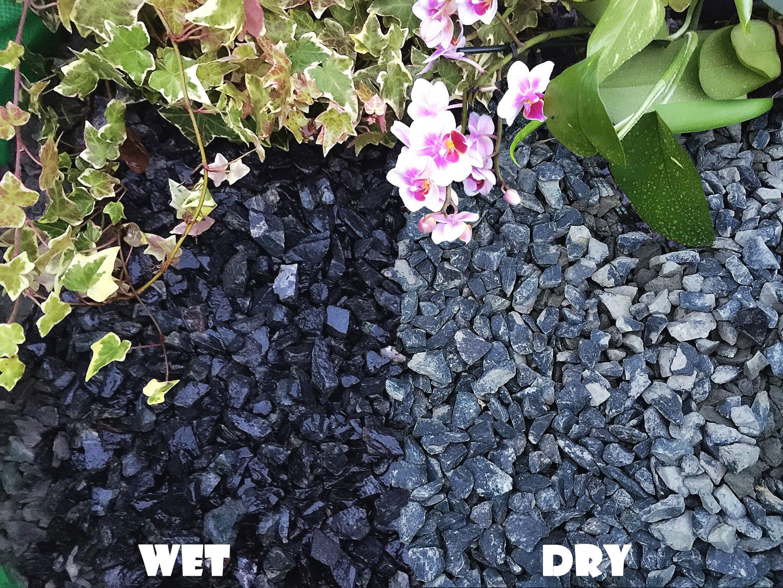 Virutas de grava piedra pizarra disuadir hierba jardín Patio Camino planta Topping – negro basalto (10 – 20 mm), 10 kg: Amazon.es: Hogar