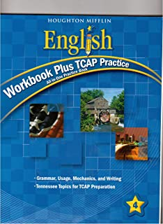 English, Grade 4 Workbook Plus Tcap Practice: Houghton Mifflin English Tennessee