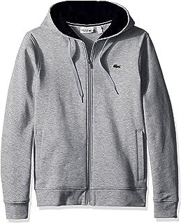 Mens Sport Long Sleeve Fleece Full Zip Hoodie Sweatshirt