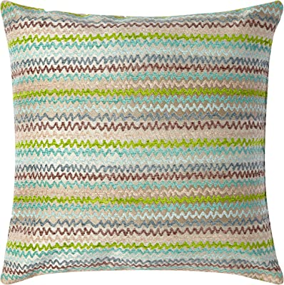 Amazon.com: Rizzy Home pilt11484uqnt2020 rayas decorativo ...