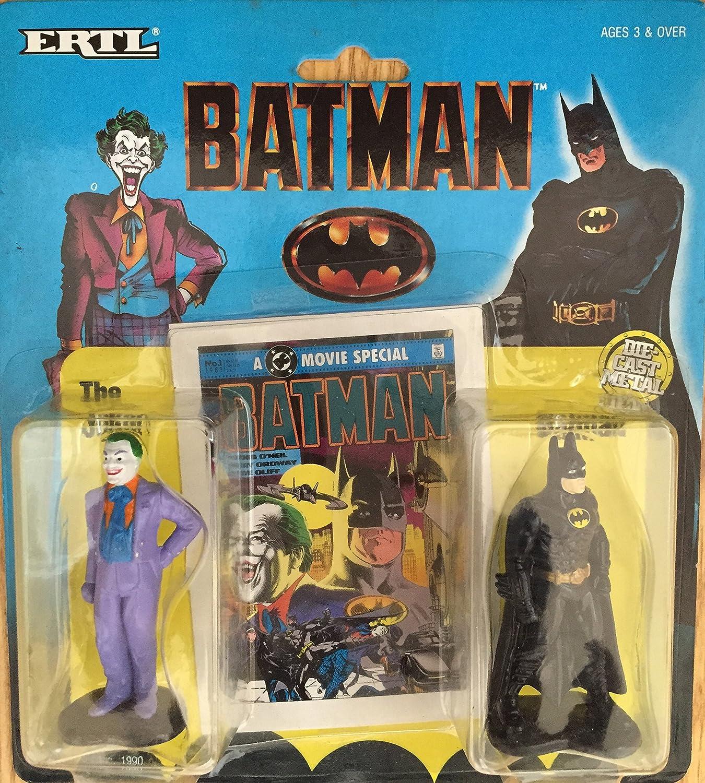 Batman the movie  die cast joker and batman figure 2 pack  1990  very rare