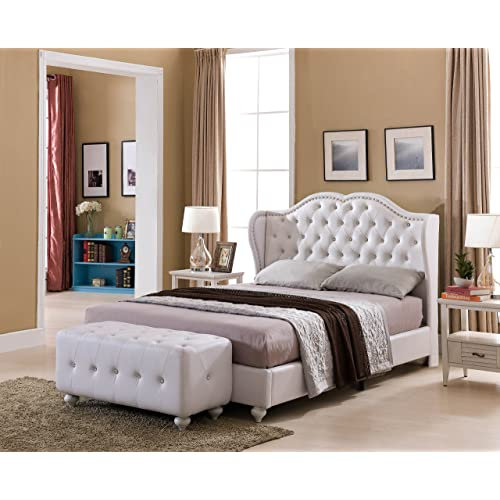 White King Tufted Bed Frame Amazoncom