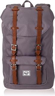 Herschel Supply Company Little America Mid-Volume Casual Daypack, 41-inch, 16.5 Liters, Grey/ Tan PU