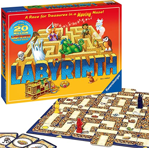 Ravensburger 26448 The Amazing Labyrinth Board Game, Games and Craft, clear