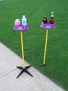 Color Options for JDT Kaddy Elevated Drink Holders (Set of Two) - Comes with Both Ground Stakes and Hard Surface Stands. Great for Outdoor Games
