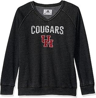 J America NCAA womens Achieve Fleece Crew Sweatshirt