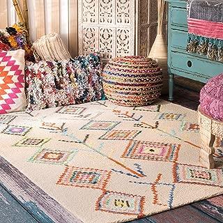 nuLOOM Belini Hand Tufted Wool Rug, 5' x 8', Ivory