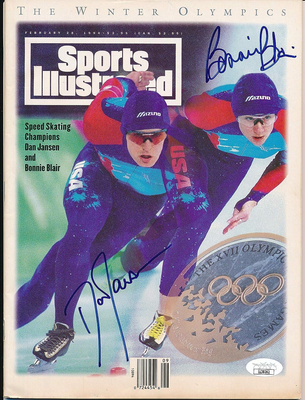 Dan Jansen Bonnie Blair Signed Illustrated Sports High quality new online shop Magazine 1994