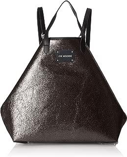Love Moschino Borsa Glitters Pu Nero, Women's Backpack Handbag, Black, 15x35x45 cm (B x H T)