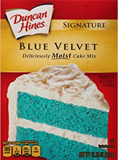 Duncan Hines Signature Cake Mix, Blue Velvet, 15.25 Ounce
