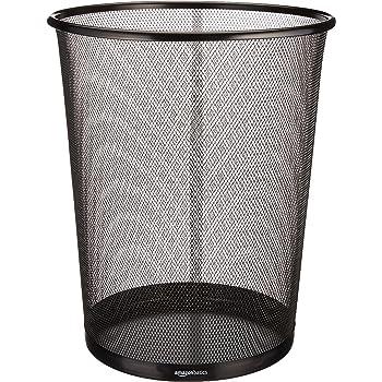 AmazonBasics Mesh Trash Can Waste Basket