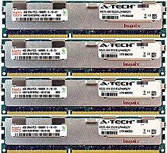 A-Tech Hynix 16GB Kit 4X 4GB PC3-10600 1.5V for Dell Precision Workstation Snpp9rn2c/8g A2626072 A2626093 A2862069 A2862074 A3721482 T5600 T7500 T7600 T5500 T5600 T7500 T7600 T5500 Memory RAM