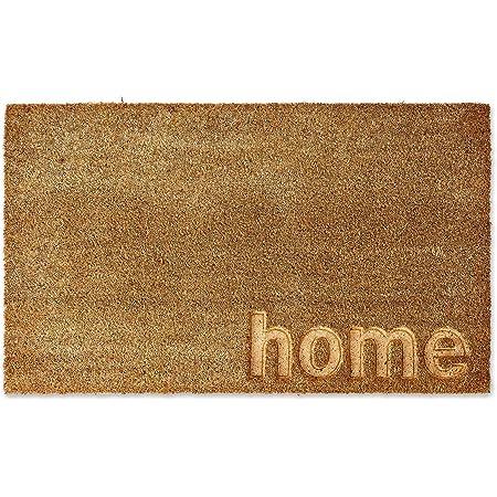 DII Fun Greetings Décor Indoor/Outdoor Natural Coir Fiber Doormat, 18 x 30 Inch, Home Engraved