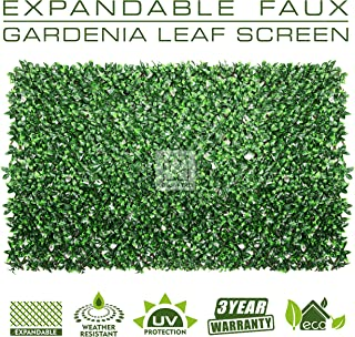 ColourTree Expandable Gardinia Leaf Faux Artificial Ivy Trellis Fence Screen Privacy Screen Wall Screen - Commercial Grade 150 GSM - Heavy Duty - 3 Years Warranty (1)