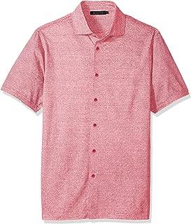 Bugatchi Men's Trim Fit Lightweight Button Down Knit Shirt