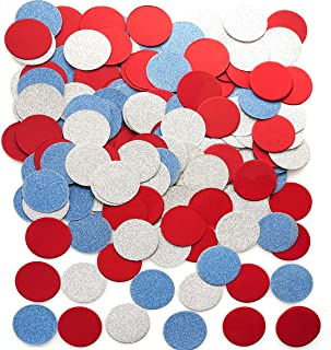 Independence Day Party Table Confetti Decor - Circle Dots Table Scatter Confetti Patriotic National Day American Baby Shower Presidents Birthday Party Confetti Decorations, 200pc