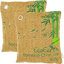 EcoEarth Nature Fresh Air Purifier Bags (2 Pack: 2x500g), Bamboo Charcoal Deodorizer, Nature Fresh Set, Activated Bamboo Charcoal Air Purifying Bag for Home, Car, Shoes, Closet, Kitchen