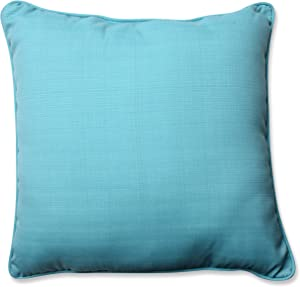 "Pillow Perfect Outdoor/Indoor Forsyth Pool Floor Pillow, 25"", Solid, Blue"