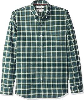 Marca Amazon – Goodthreads – Camisa Oxford a cuadros de manga larga y corte estándar para hombre