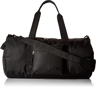 Men's Solid Nylon Duffle, deep black, One Size