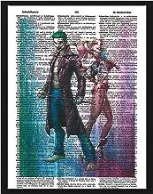 Signature Studios Harley Quinn Photo Joker Suicide Squad Dictionary Art Print Wall Decor Photo Superhero Poster Mixed Media Art 8x10