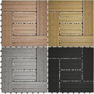 Klicken Baldosa WPC Composite Base plástica para Decks compuestos fáciles de Instalar en Patios, Balcones, azoteas y áreas de Jacuzzi al Aire Libre (Probar