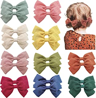 Baby Girls Hair Bows Clips Hair Barrettes Accessory for Babies Infant Toddlers Kids Elam (Navy)
