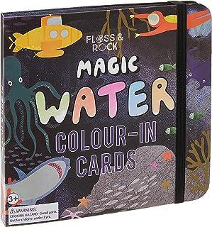 Floss & Rock FR38P3414 Magic Water Colour-In Card, Deep Sea