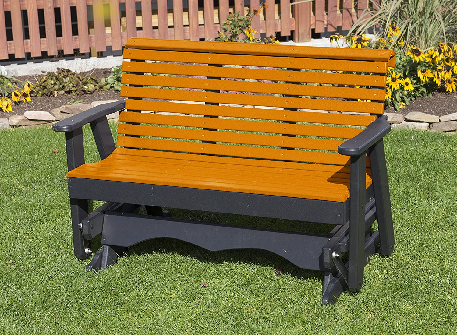 Ecommersify Inc Dealing full price reduction Max 45% OFF 5FT-Bright Orange-Poly Lumber Gl Back ROLL Porch