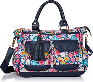 Itzy Ritzy Triple Threat Convertible Diaper Bag – Converts from a Tote to a Messenger Bag to a Backpack Diaper Bag; Includes 13 Total Pockets, Matching Stroller Straps & Changing Pad, Posy Pop