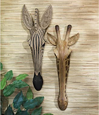 Design Toscano Zebra Animal Mask of the Savannah Wall Decor Sculpture, 16 Inch, Polyresin, Full Color