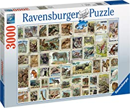Ravensburger 17079 Animal Stamps 3000 Piece Puzzle Jigsaw, Multicolor