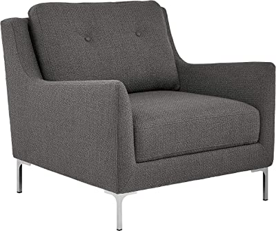 """Amazon Brand – Rivet Abel Modern Contemporary Accent Chair, 32""""W, Charcoal"""
