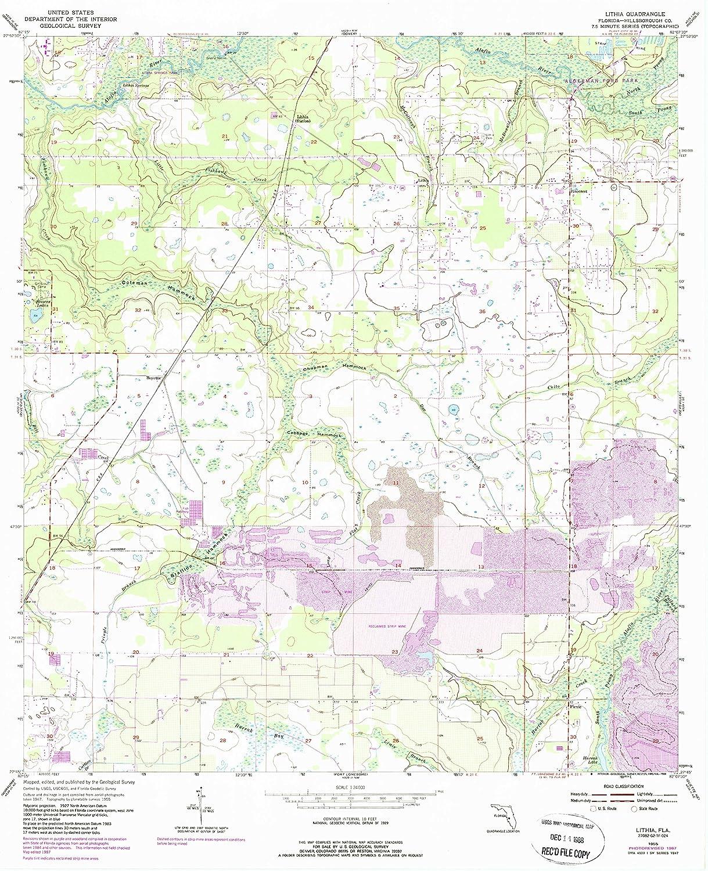 YellowMaps Regular Colorado Springs Mall dealer Lithia FL topo map 1:24000 Scale X 7.5 Minute
