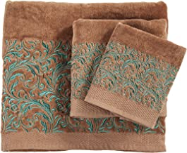 HiEnd Accents with with Embroidered Scroll Pattern Towel Set