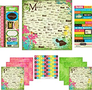 Scrapbook Customs Themed Paper and Stickers Scrapbook Kit, Maui Paradise