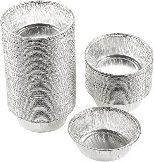 Juvale Aluminum Foil Pie Pans - 100-Piece Round Disposable Tin Pans for Baking, Roasting, Broiling Cooking, for Temperatures Up to 500-F, 4.9 x 1.5 x 4.9 Inches