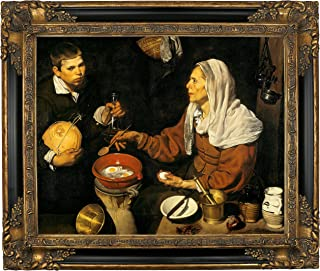 Historic Art Gallery an Old Woman Frying Eggs 1618 by Diego Velazquez 16
