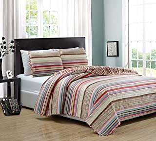 RT Designers Collection Marley 3 Piece Reversible Quilt Set, King